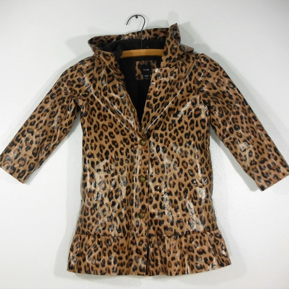 4a23004c92e7 Baby Gap Jackets & Coats | Girls Leopard Print Lined Rain Coat Sz5 ...